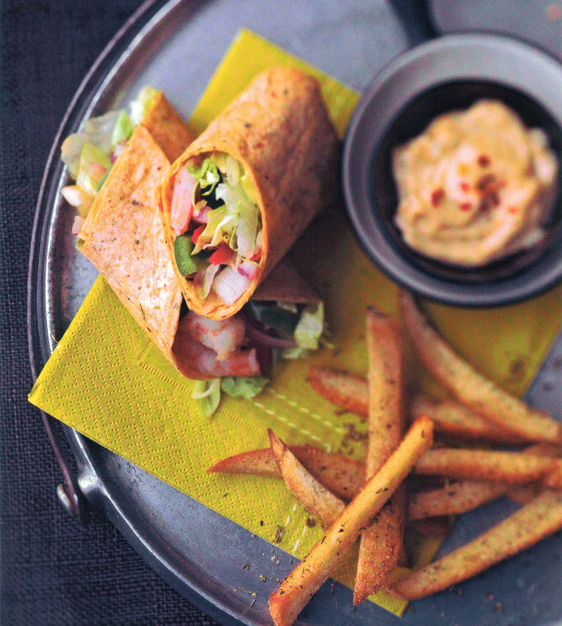 Grilled Vegetable Sandwiches And Brioche Fries