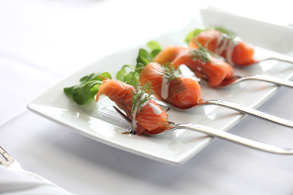 House Smoked Norwegian Salmon Carpaccio