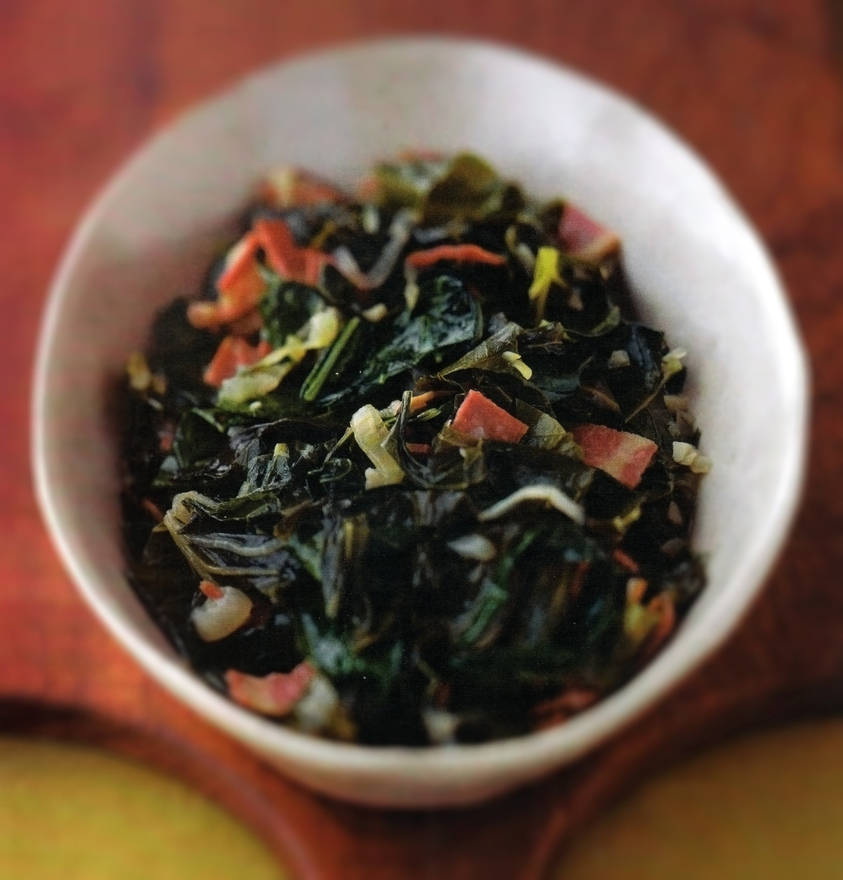 Collard Greens With Smoked Turkey Bacon