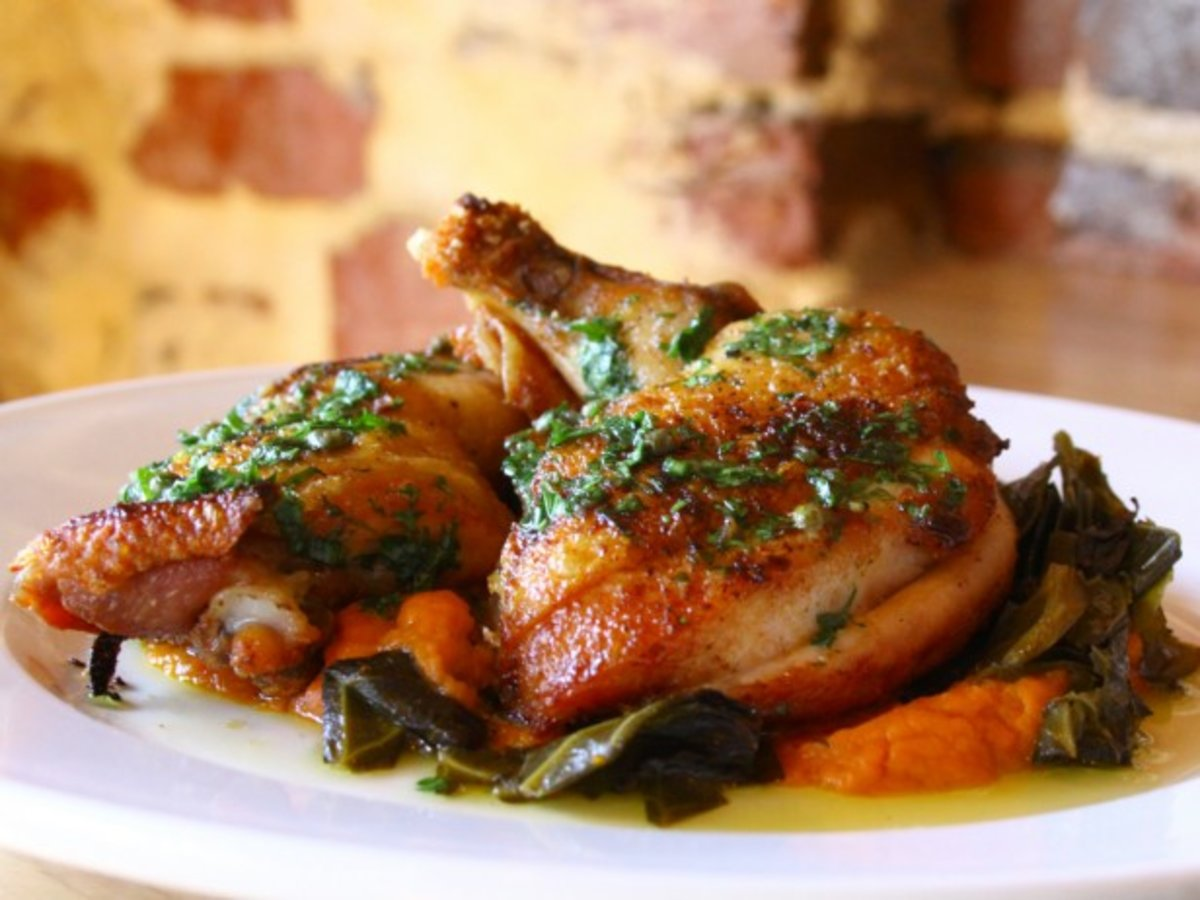 Boundary Road Brick Chicken And Collard Greens