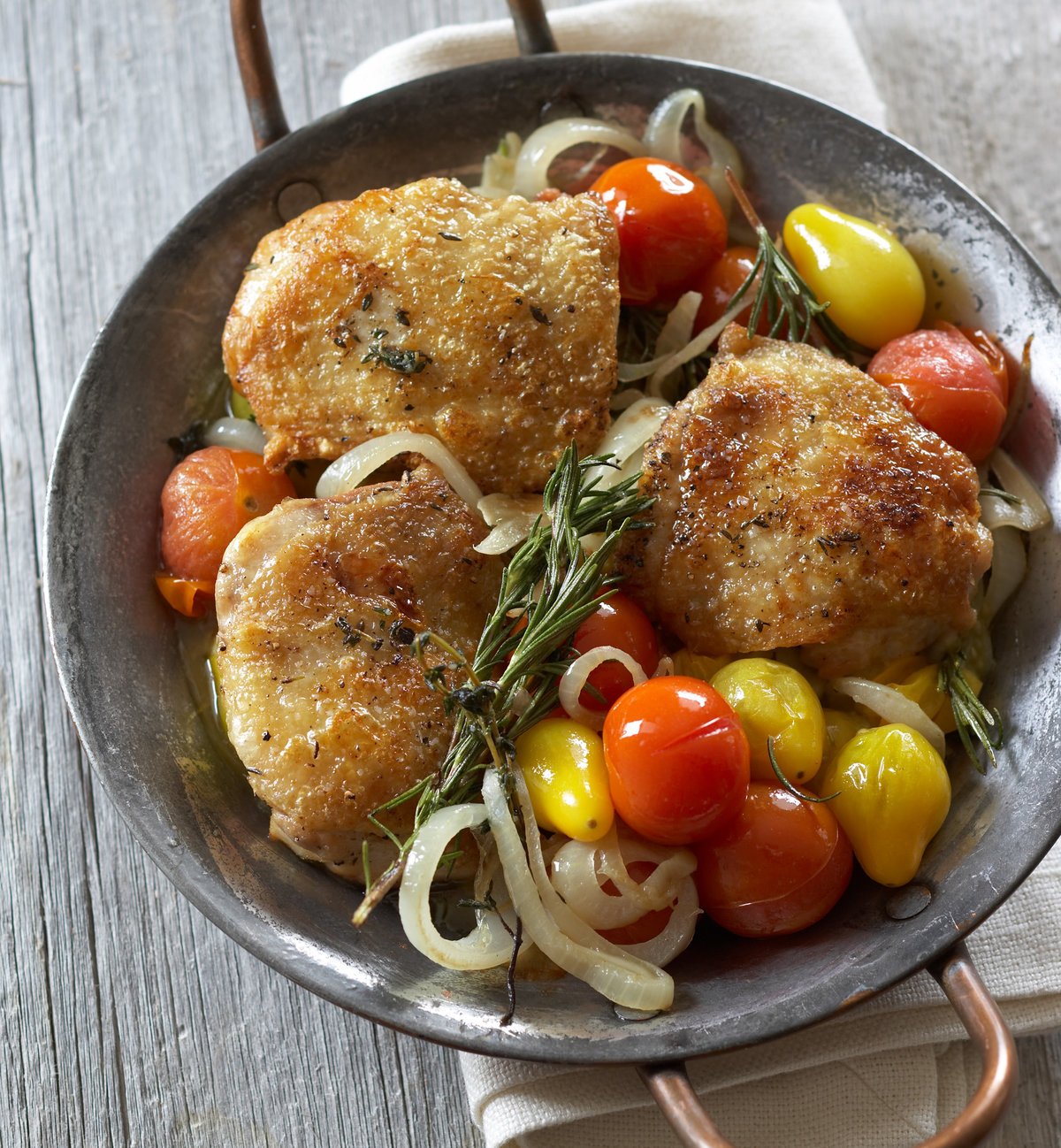 Garlic Chicken With Roasted Tomatoes
