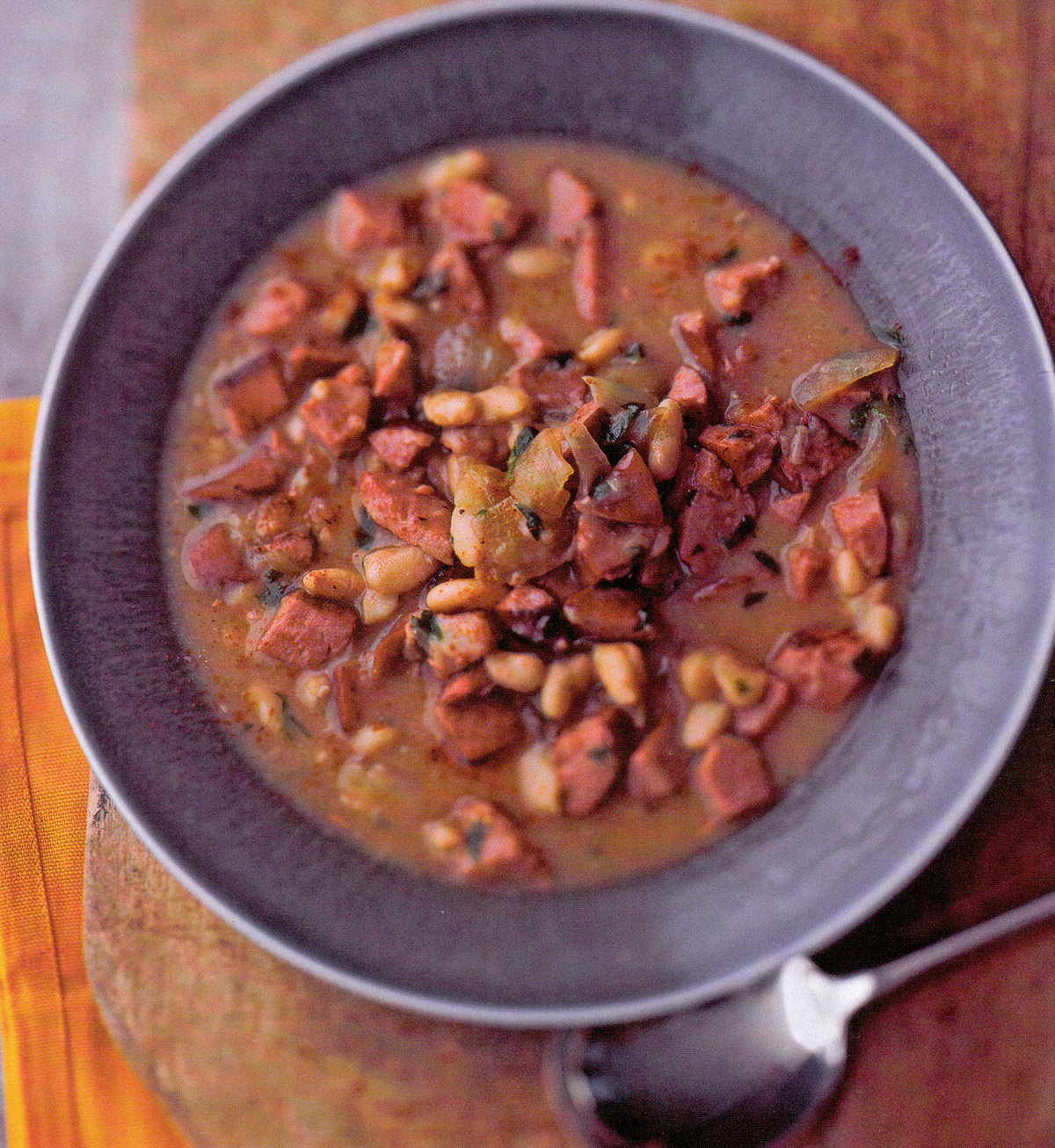White Beans With Kielbasa