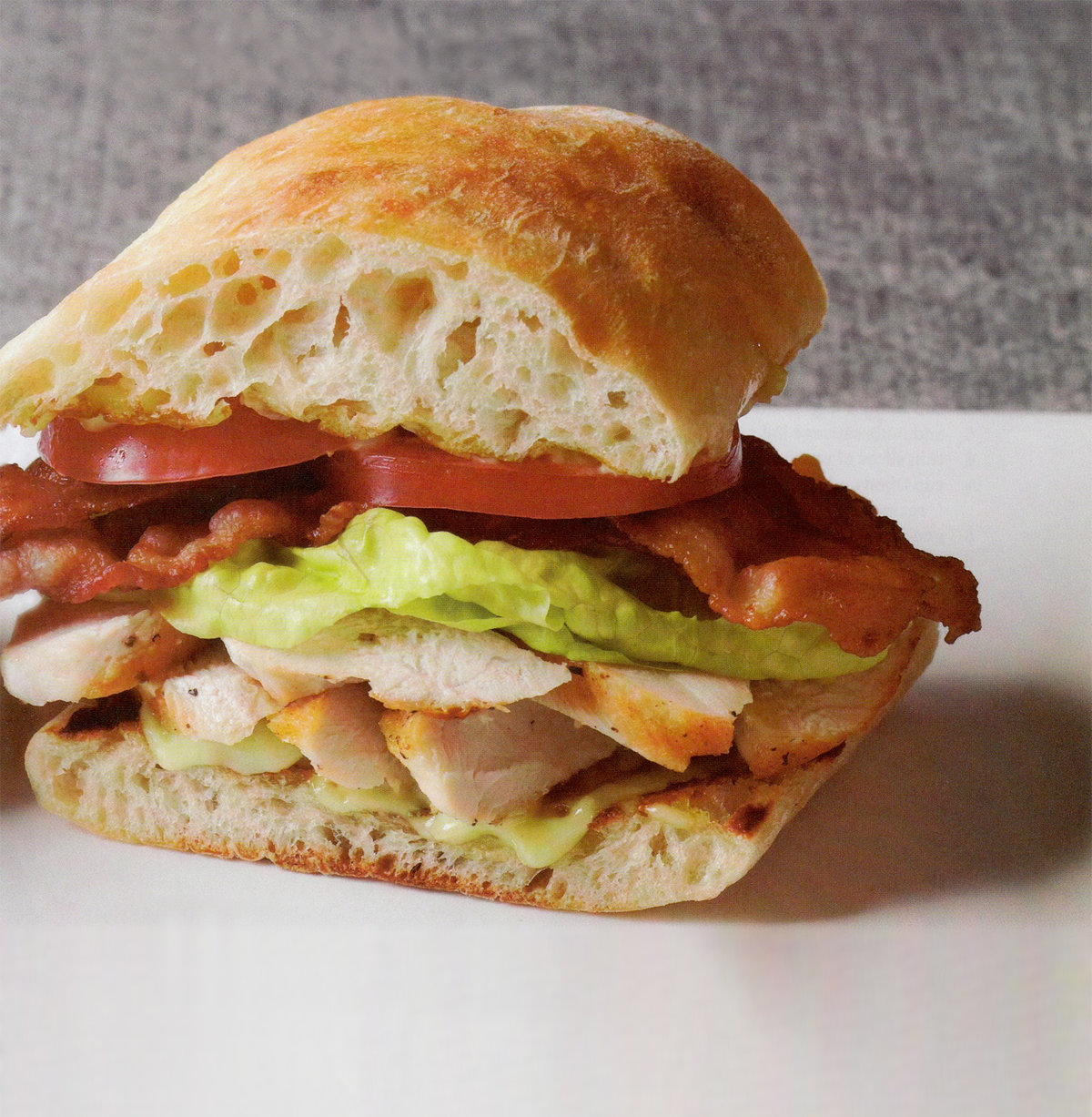Warm BLT With Chicken