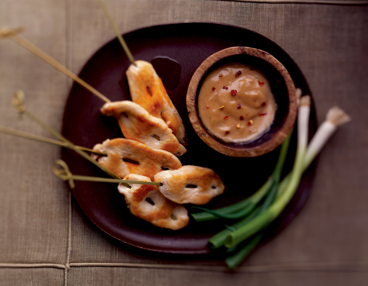 Chicken Saté with Spicy Peanut Sauce